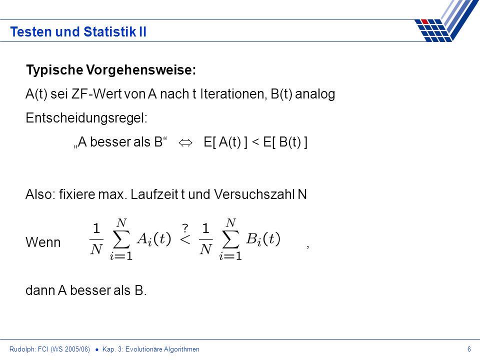 Testen und Statistik II