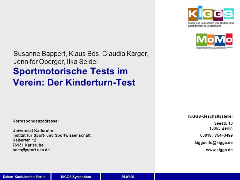 Sportmotorische Tests im Verein: Der Kinderturn-Test