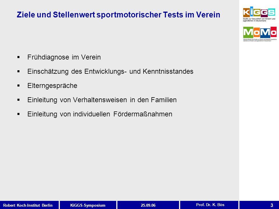 Ziele und Stellenwert sportmotorischer Tests im Verein