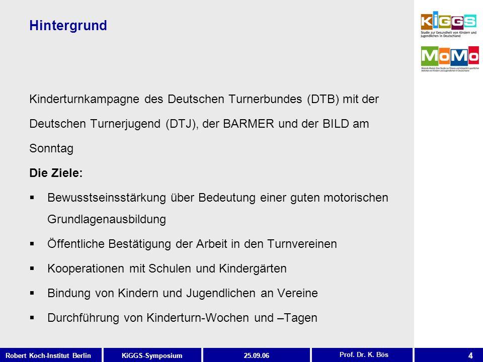 Hintergrund Kinderturnkampagne des Deutschen Turnerbundes (DTB) mit der. Deutschen Turnerjugend (DTJ), der BARMER und der BILD am.