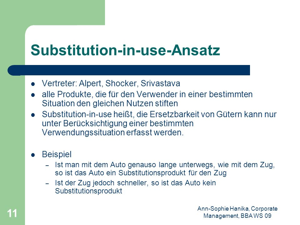 Substitution-in-use-Ansatz