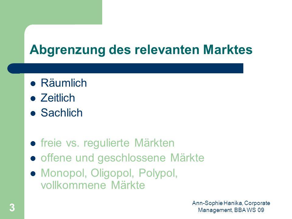 Abgrenzung des relevanten Marktes