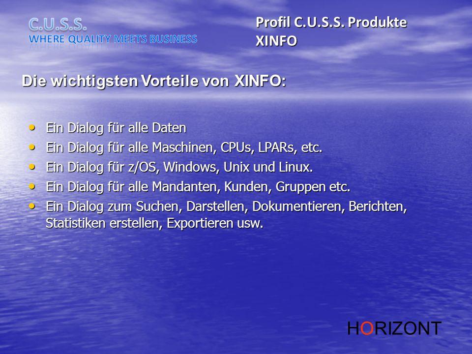 HORIZONT Profil C.U.S.S. Produkte XINFO