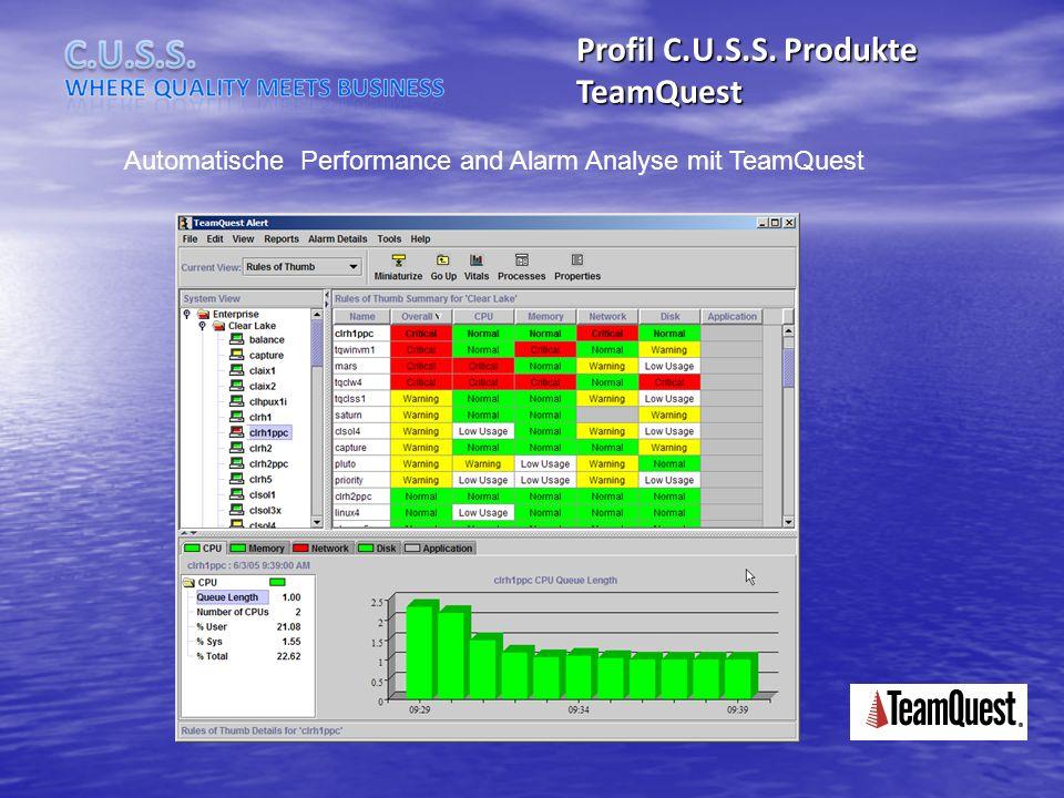 Profil C.U.S.S. Produkte TeamQuest