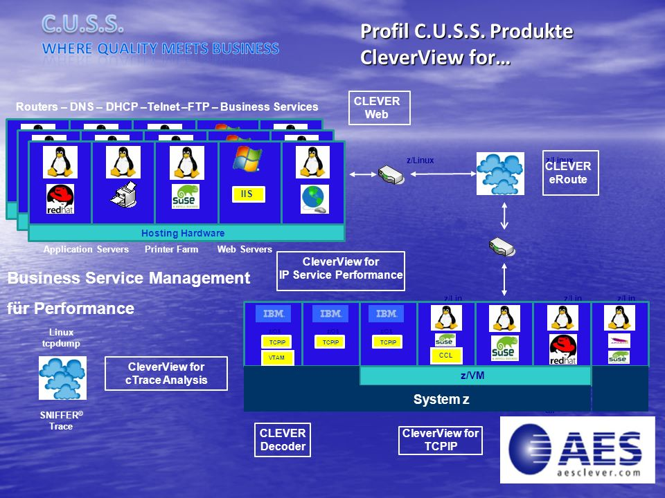 Profil C.U.S.S. Produkte CleverView for… Business Service Management