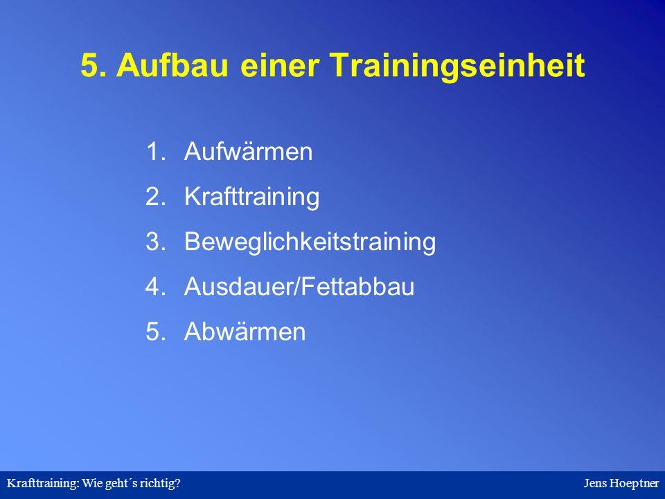 5. Aufbau einer Trainingseinheit
