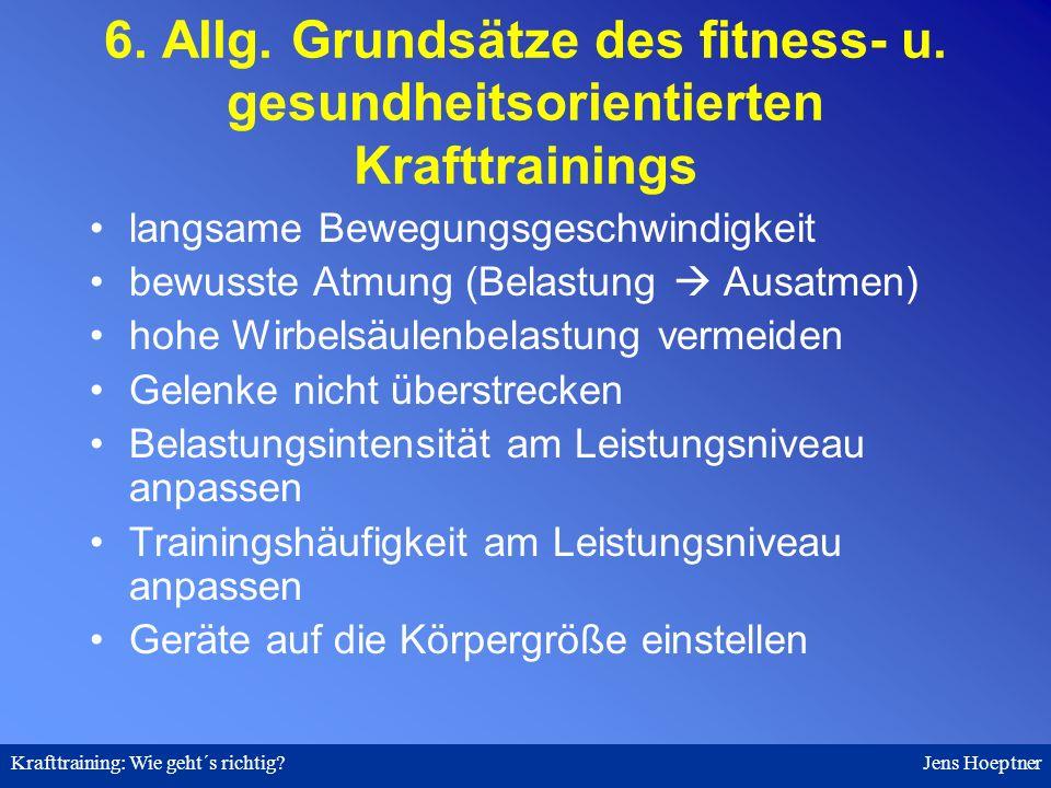 6. Allg. Grundsätze des fitness- u