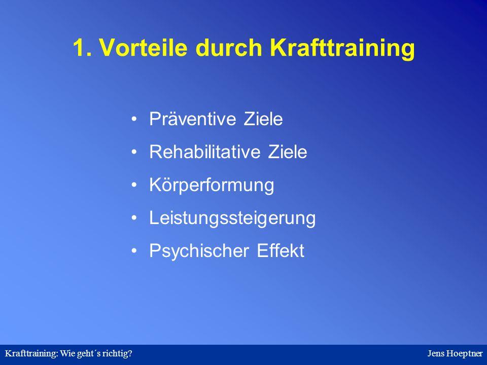 1. Vorteile durch Krafttraining