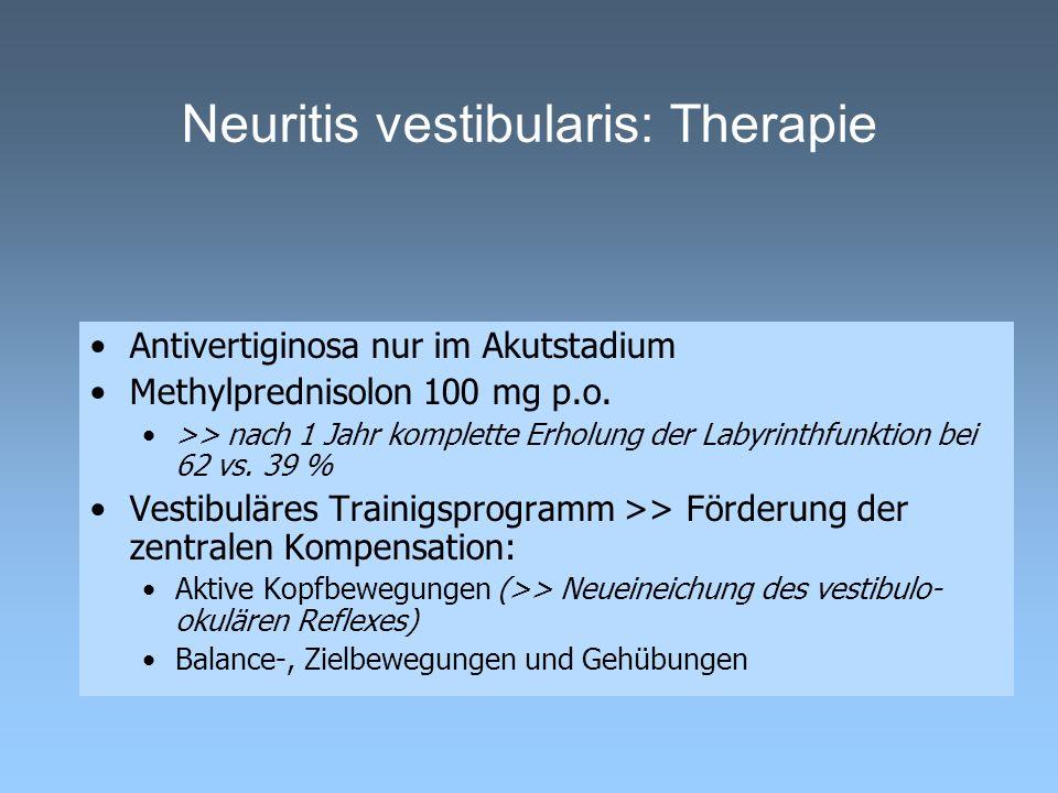 Neuritis vestibularis: Therapie