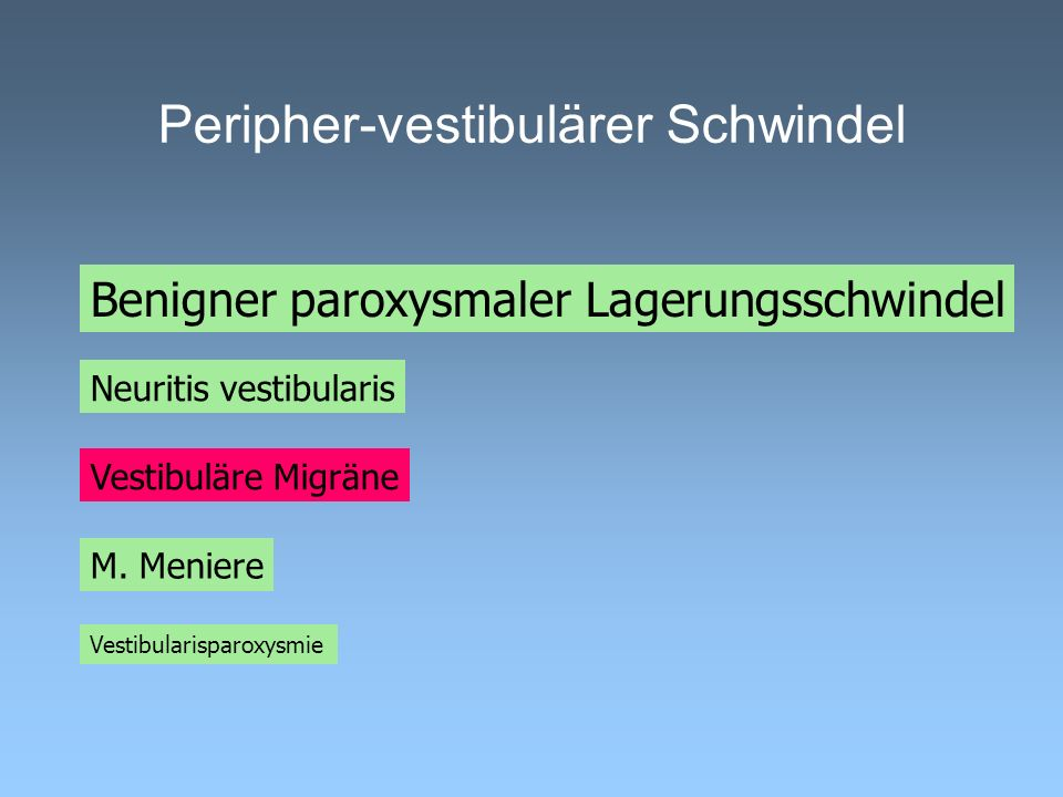 Peripher-vestibulärer Schwindel