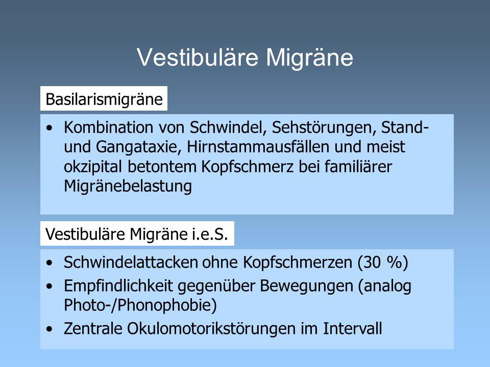 Vestibuläre Migräne Basilarismigräne