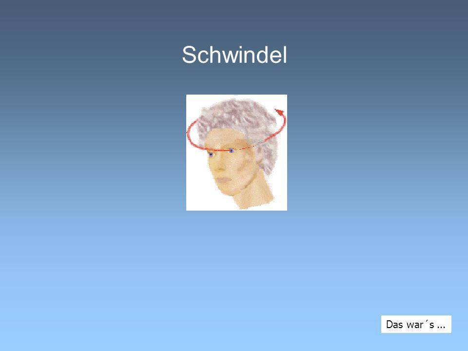 Schwindel Das war´s ...