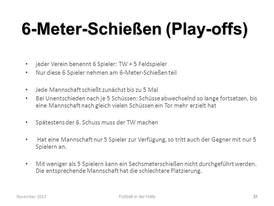 6-Meter-Schießen (Play-offs)