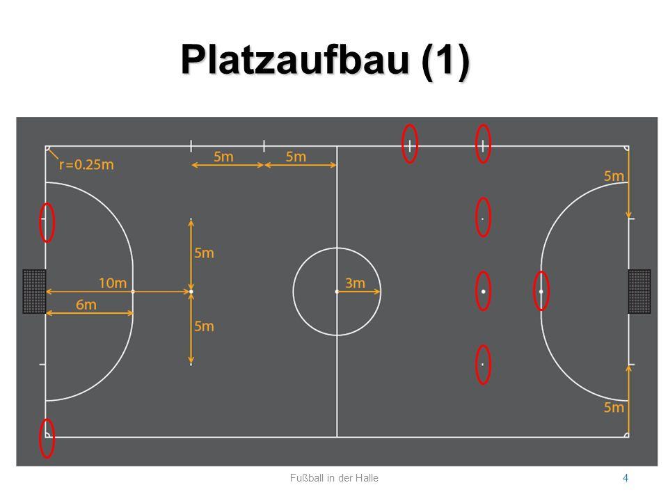 Platzaufbau (1) Fußball in der Halle