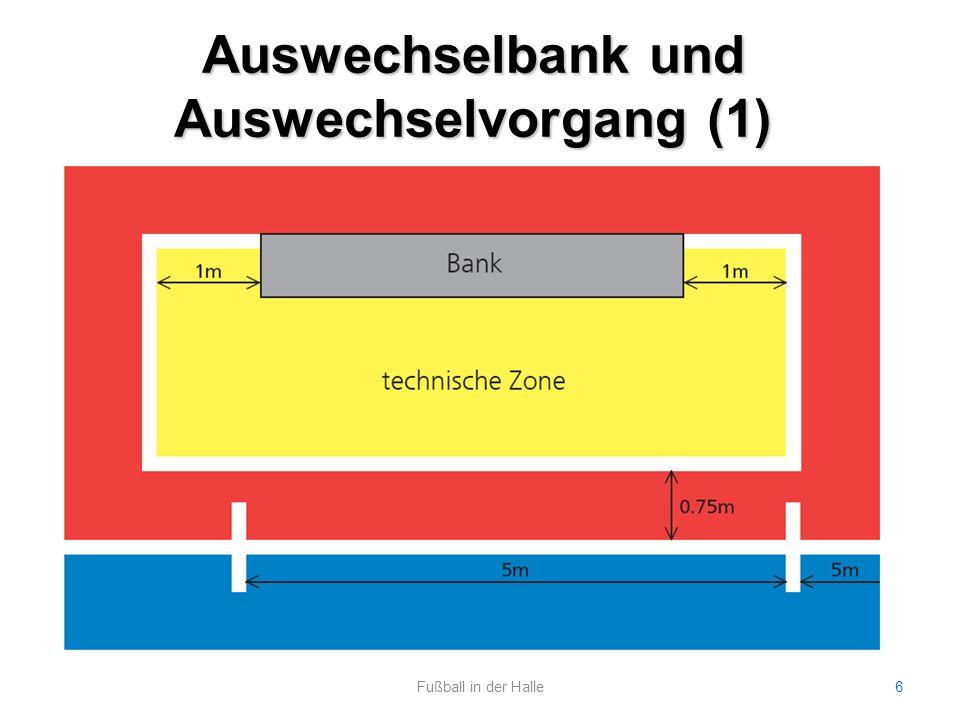 Auswechselbank und Auswechselvorgang (1)