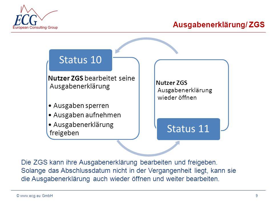 Ausgabenerklärung/ ZGS