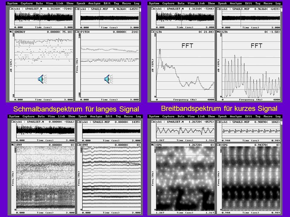 Schmalbandspektrum für langes Signal