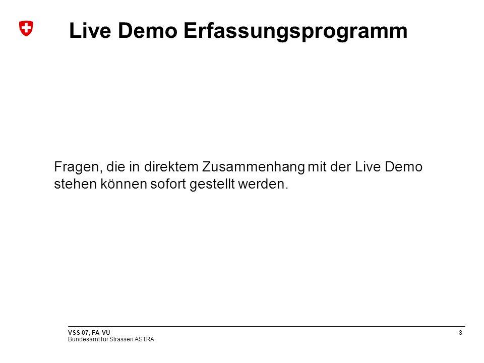 Live Demo Erfassungsprogramm