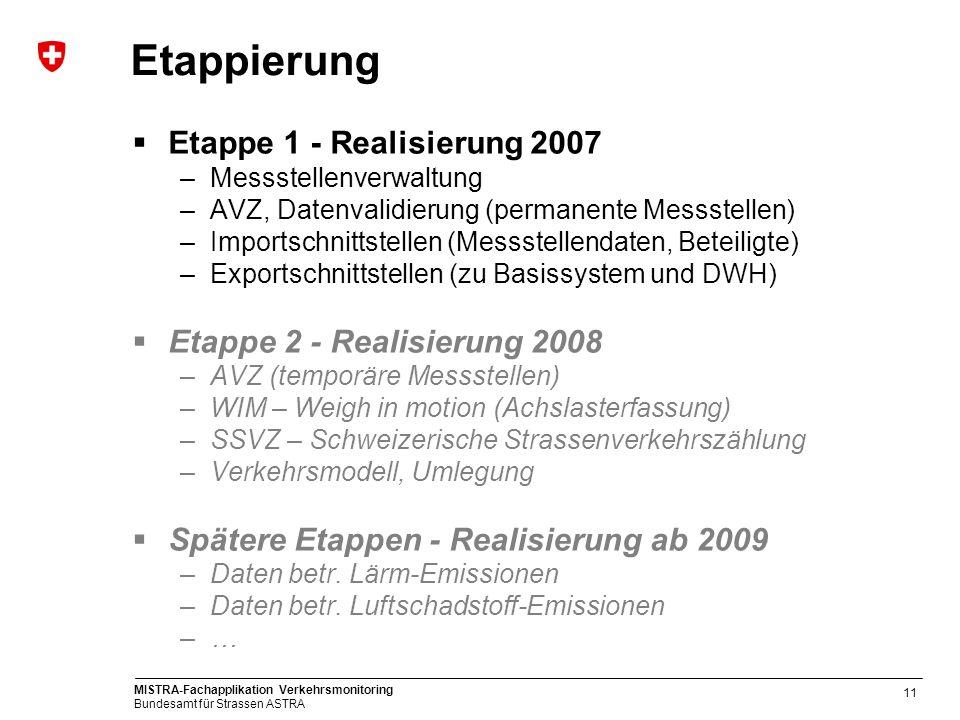 Etappierung Etappe 1 - Realisierung 2007 Etappe 2 - Realisierung 2008