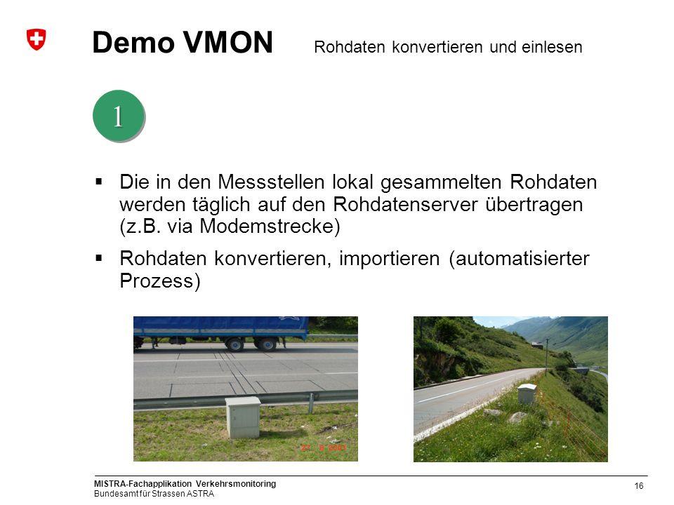 Demo VMON Rohdaten konvertieren und einlesen