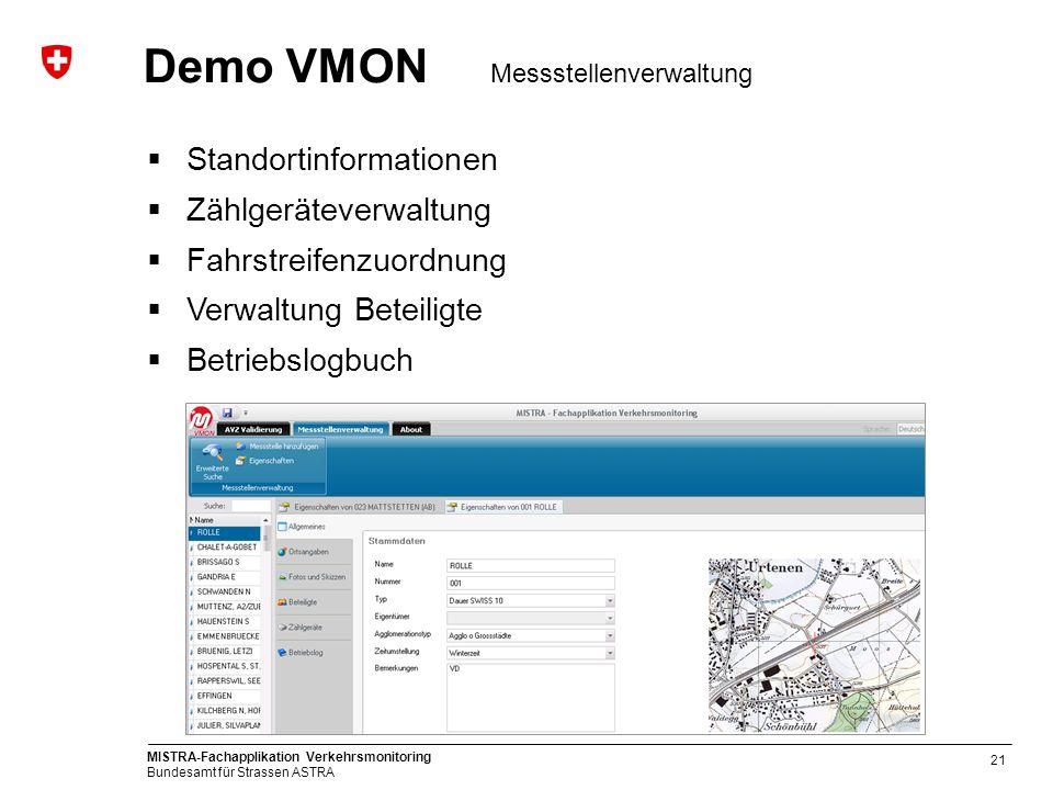 Demo VMON Messstellenverwaltung