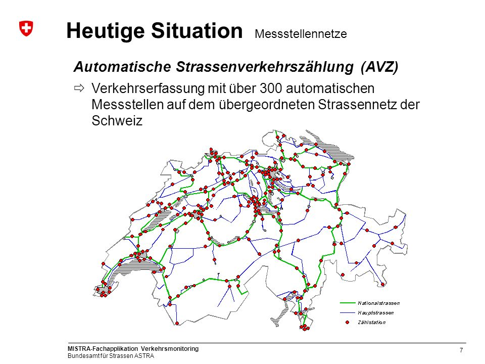 Heutige Situation Messstellennetze