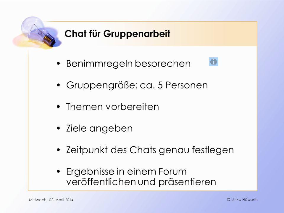 Chat für Gruppenarbeit