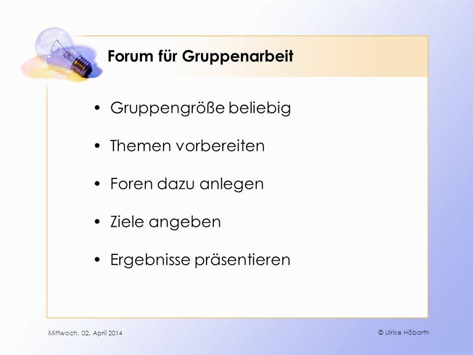Forum für Gruppenarbeit