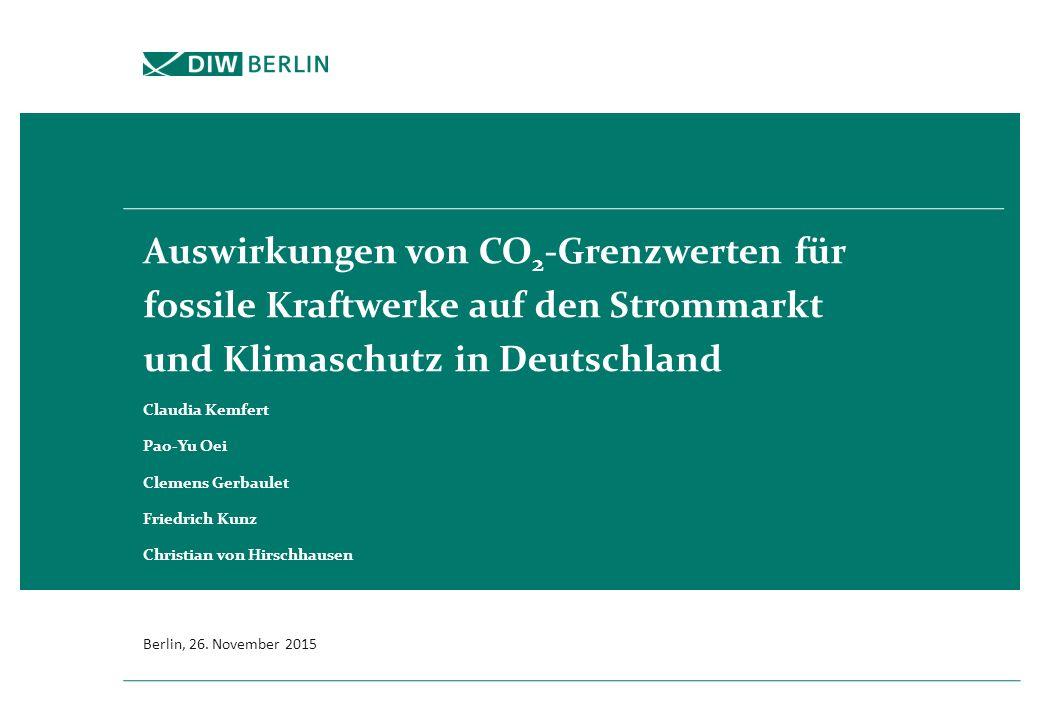 Veröffentlichungen des DIW Berlin zum Thema Kohle (Auswahl)