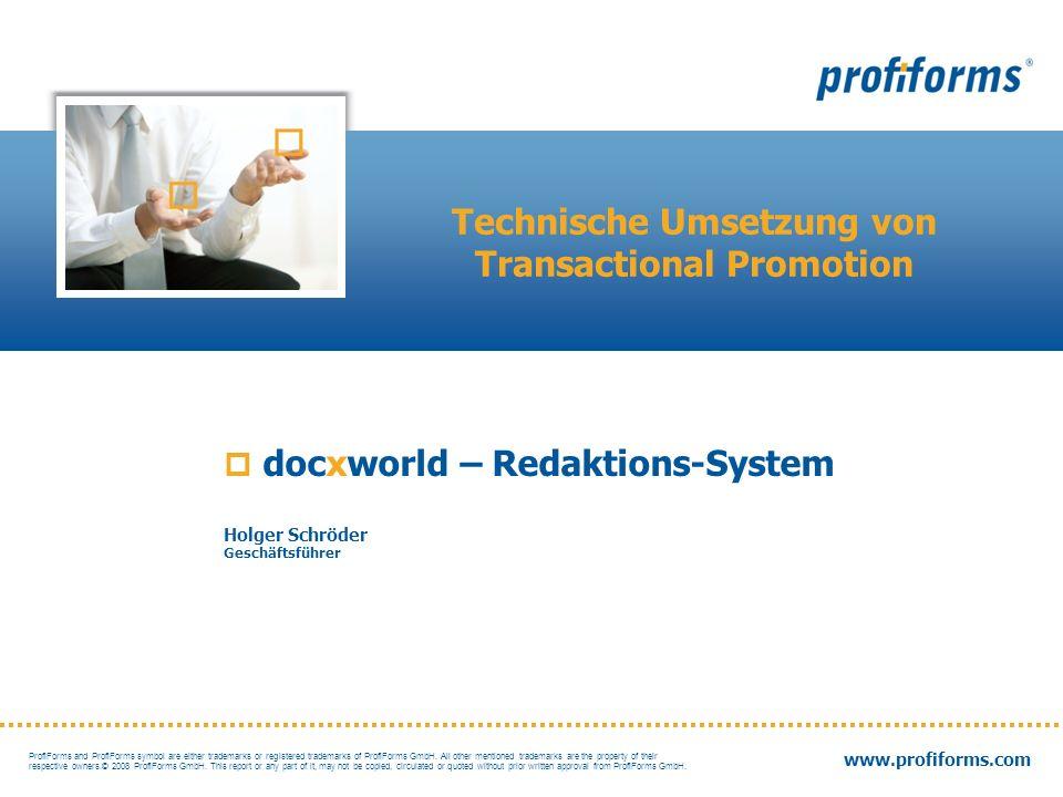 Technische Umsetzung von Transactional Promotion