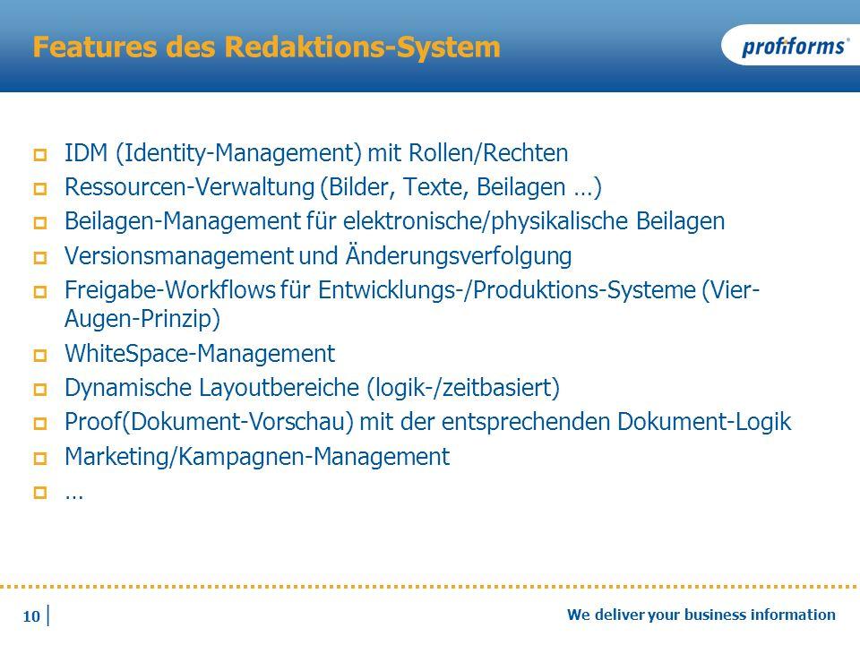 Features des Redaktions-System