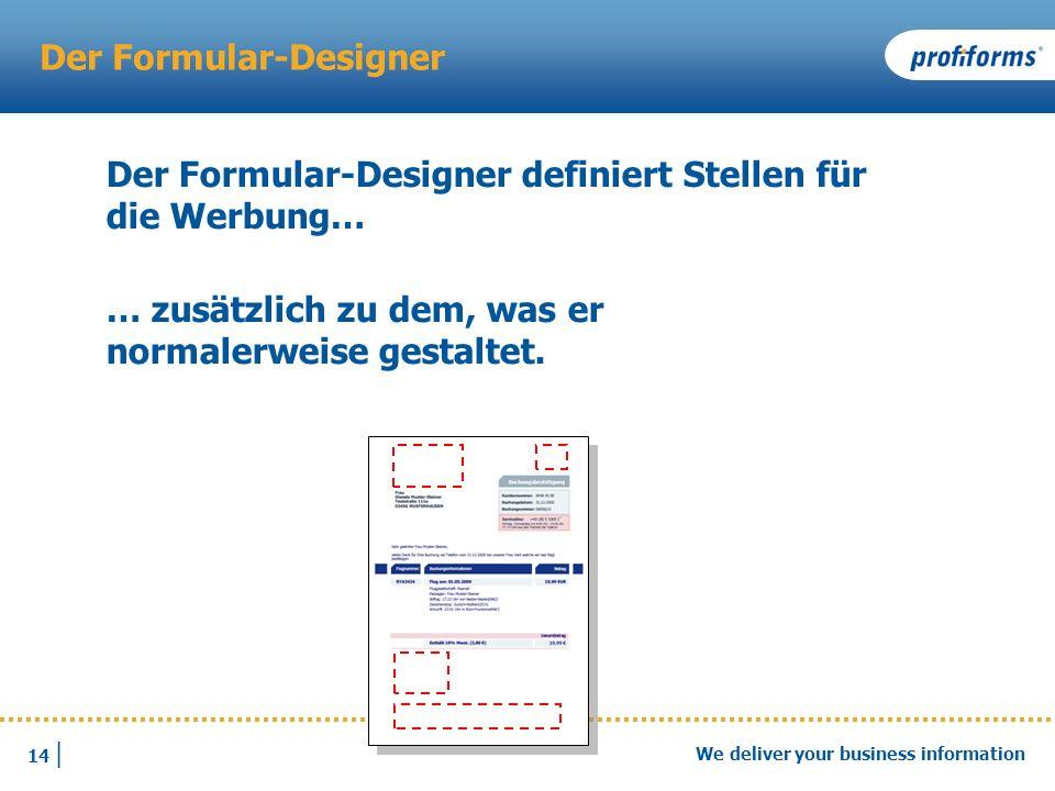 Der Formular-Designer