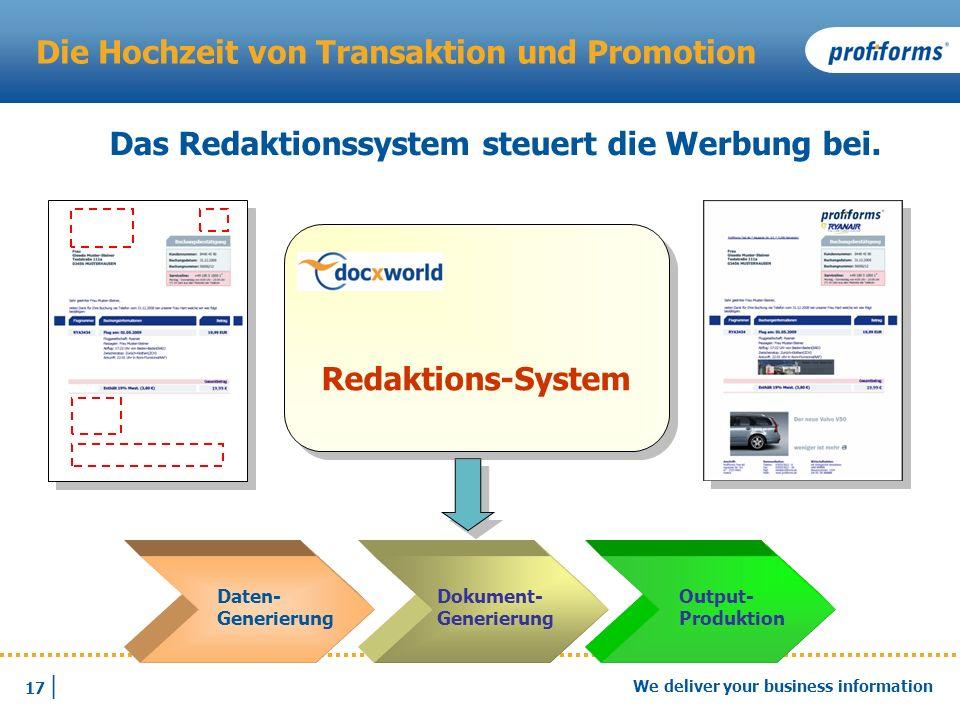 Die Hochzeit von Transaktion und Promotion