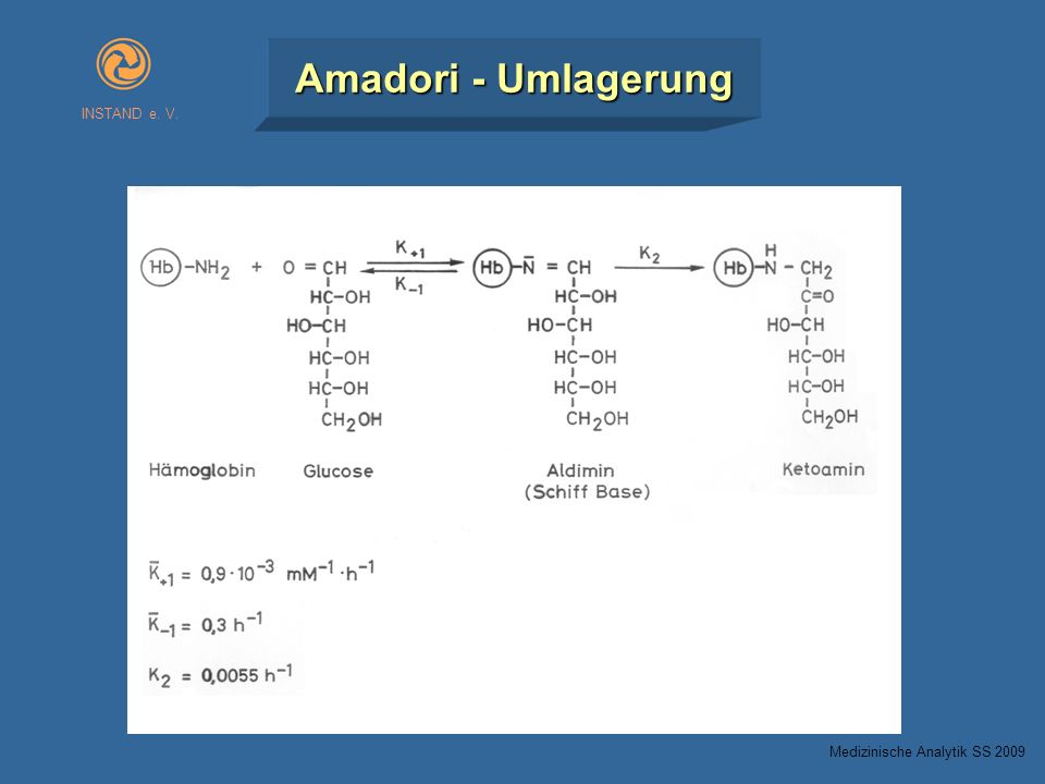 INSTAND e. V. Amadori - Umlagerung Medizinische Analytik SS 2009