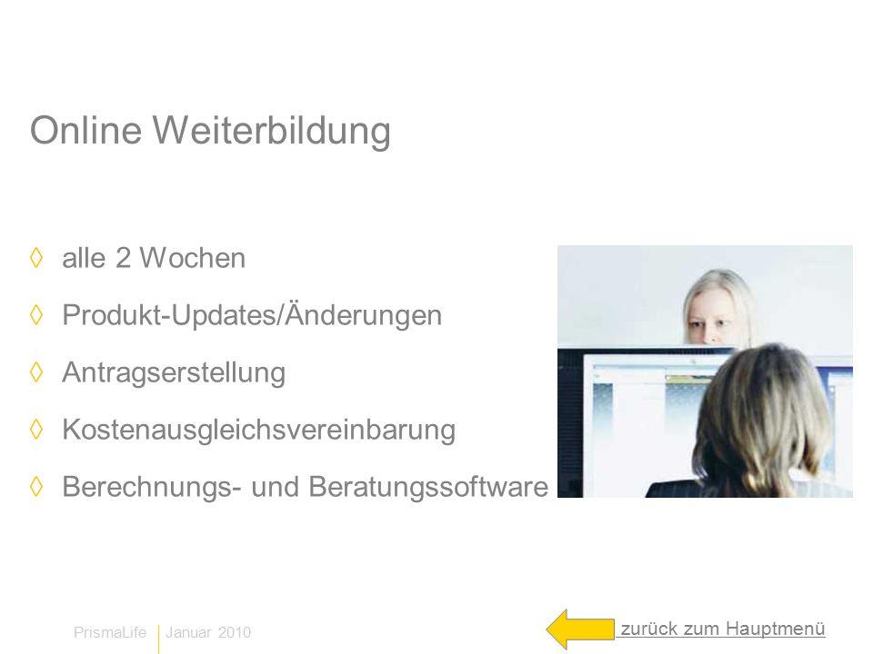 Online Weiterbildung alle 2 Wochen Produkt-Updates/Änderungen