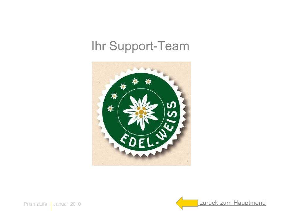 Ihr Support-Team zurück zum Hauptmenü