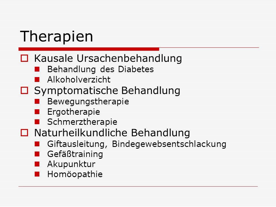 Therapien Kausale Ursachenbehandlung Symptomatische Behandlung