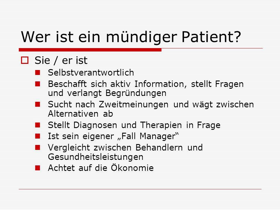 Wer ist ein mündiger Patient