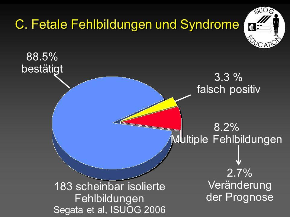 C. Fetale Fehlbildungen und Syndrome