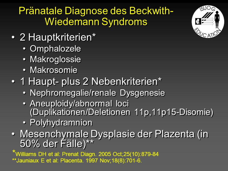 Pränatale Diagnose des Beckwith-Wiedemann Syndroms