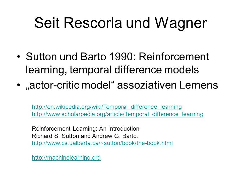 Seit Rescorla und Wagner