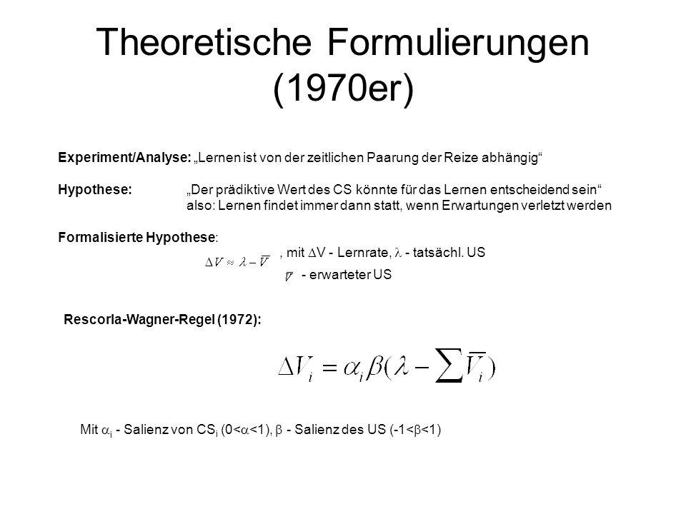 Theoretische Formulierungen (1970er)