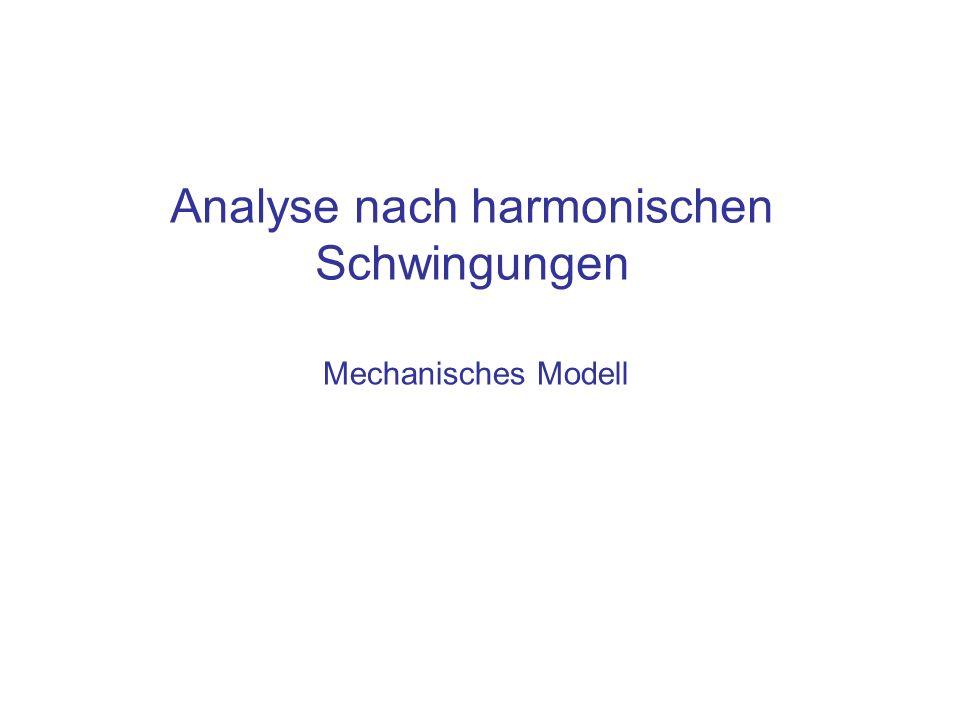 Analyse nach harmonischen Schwingungen