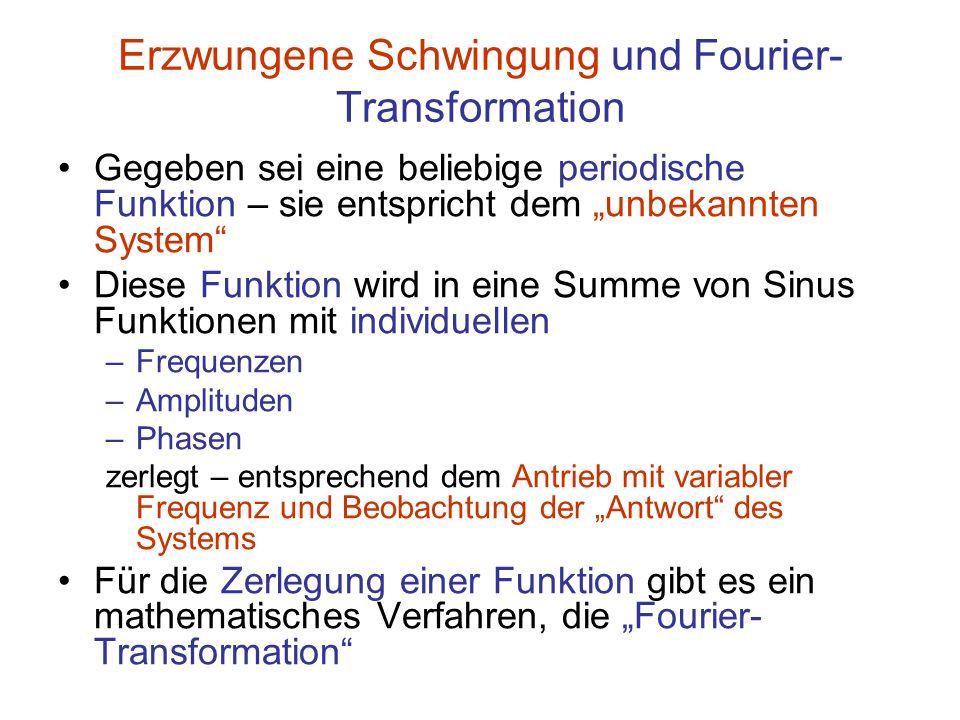 Erzwungene Schwingung und Fourier-Transformation