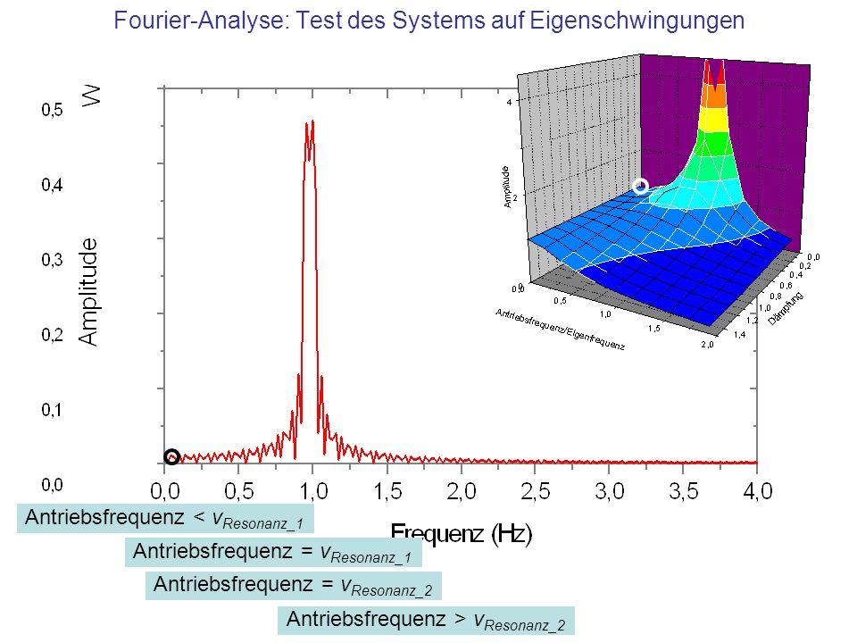 Fourier-Analyse: Test des Systems auf Eigenschwingungen