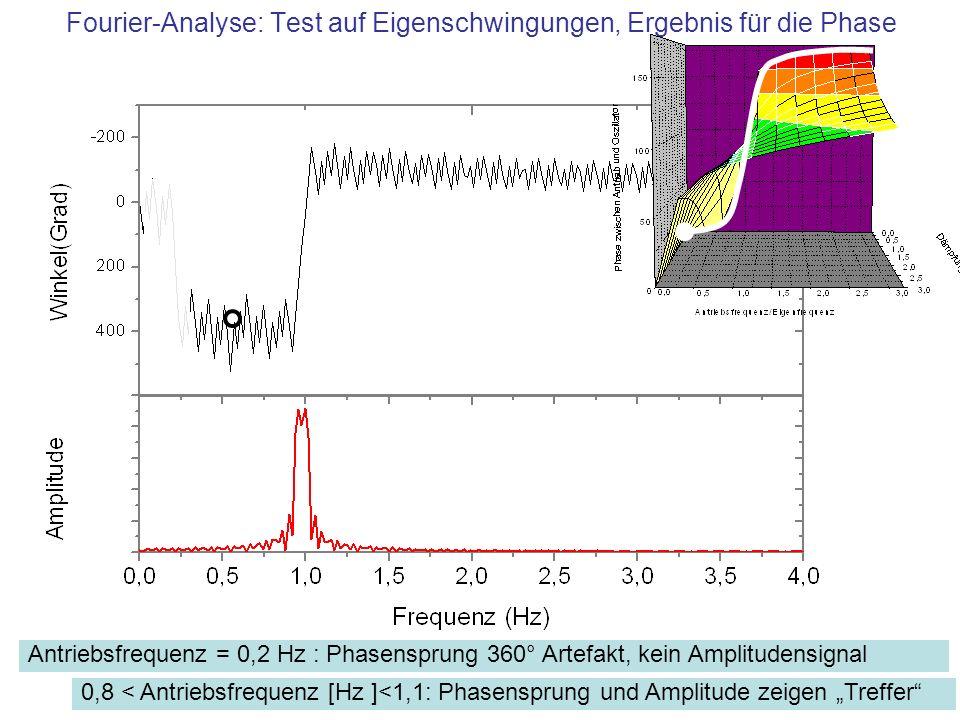 Fourier-Analyse: Test auf Eigenschwingungen, Ergebnis für die Phase