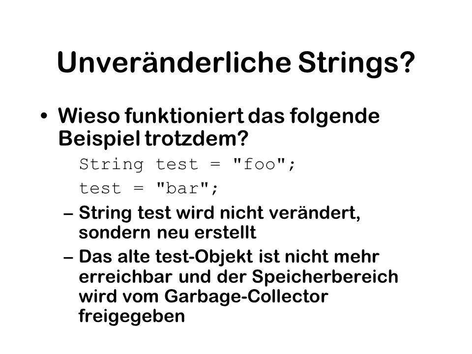 Unveränderliche Strings