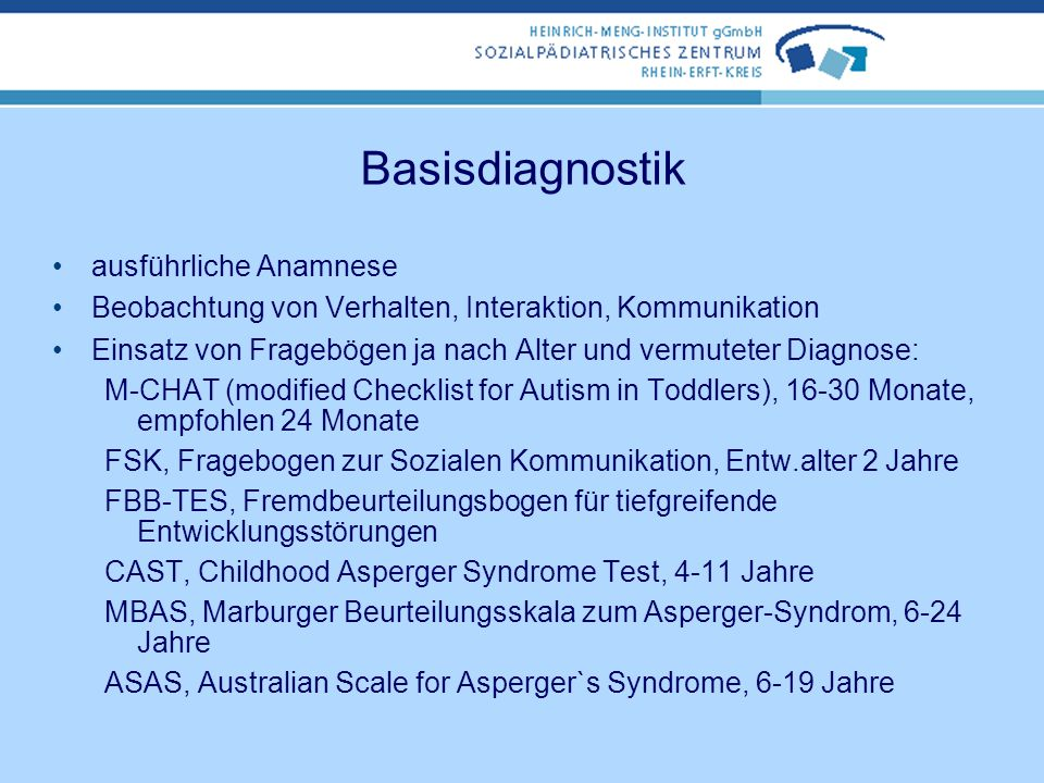 Basisdiagnostik ausführliche Anamnese