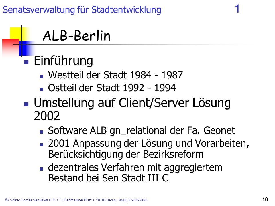 ALB-Berlin Einführung Umstellung auf Client/Server Lösung 2002