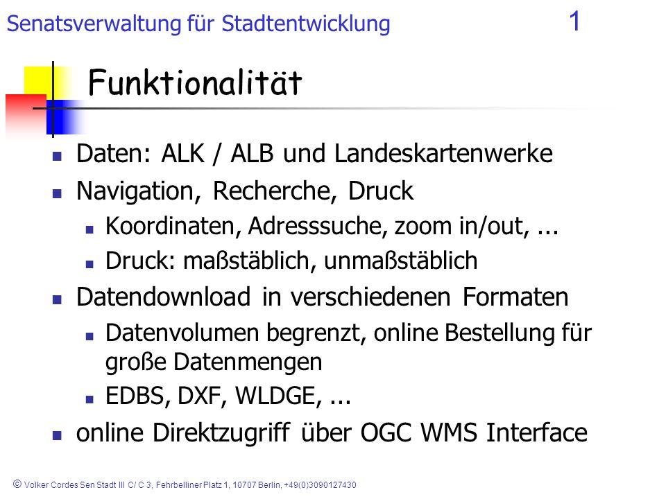 Funktionalität Daten: ALK / ALB und Landeskartenwerke